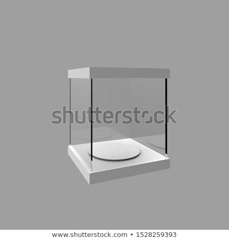 Empty display case, isolated Stock photo © cherezoff