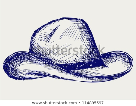 simple sketches of a cowboy stock photo © bluering