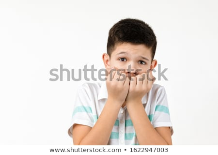 little boy with scared face stock photo © bluering