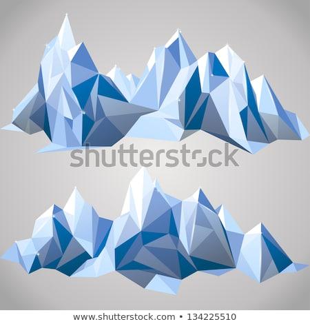 Snow Border blue 2 Stock photo © PokerMan