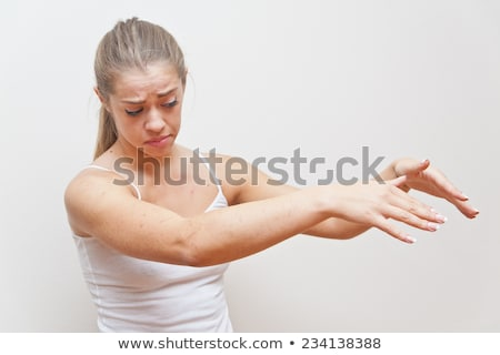 woman performing gesture for AWAY FROM ME Stock photo © Giulio_Fornasar