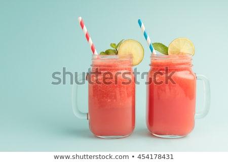 Watermelon smoothie in mason jar. Stock photo © RAStudio