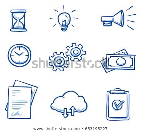 Rabisco engrenagens ícone símbolo círculo Foto stock © pakete
