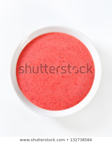 bril · framboos · smoothie · een · glas · alleen - stockfoto © digifoodstock