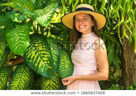 Young beauty wearing ecologic dress Stock photo © konradbak
