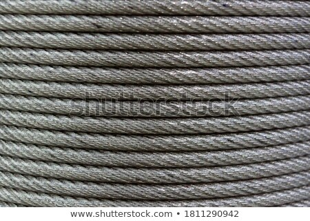 Rope background texture neatly wound into a coil Stock photo © ozgur