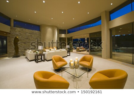 A stonewall with lampshades Stock photo © bluering