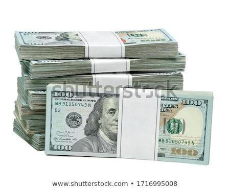 közelkép · részlet · egy · száz · dollár · alacsony - stock fotó © oakozhan