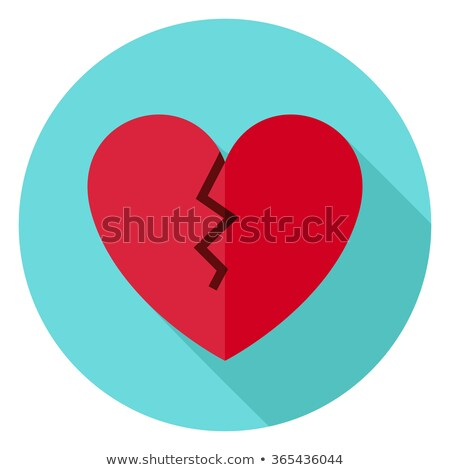 broken heart flat circle icon stock photo © anna_leni