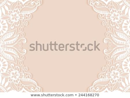 элегантный кружево орнамент место текста цветочный Сток-фото © maxmitzu