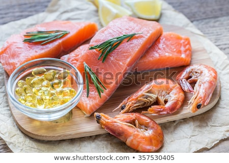 red omega 3 fish oil pills stock photo © mybaitshop