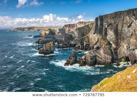 blue waves and cliffs on the wild atlantic way Stock photo © morrbyte