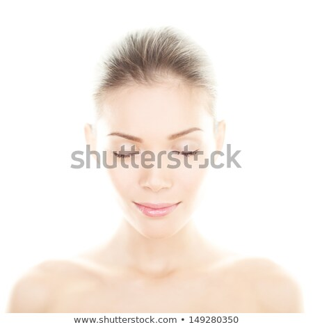 hermosa · Asia · modelo · brillante · maquillaje · retrato - foto stock © deandrobot