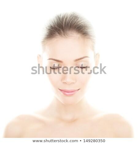 belo · asiático · modelo · brilhante · make-up · foto - foto stock © deandrobot