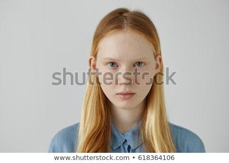 魅力的な ファッション ブロンド 少女 青い目 モデル ストックフォト © fotoduki