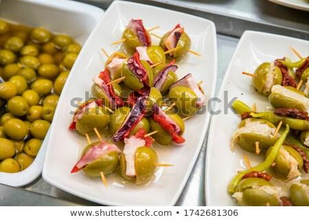 Queijo mercado Barcelona Espanha comida multidão Foto stock © artjazz