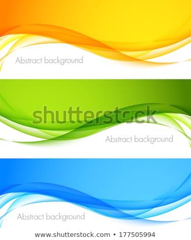 abstract · golven · vector · Blauw · groene · oranje - stockfoto © saicle