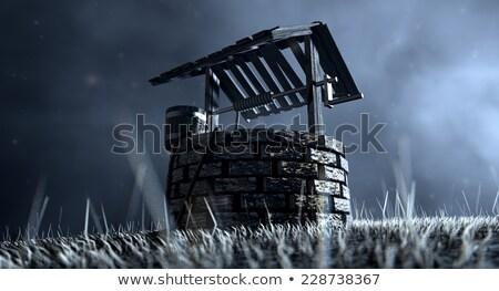 хорошо · ковша · бесплодный · пейзаж · кирпичных - Сток-фото © albund