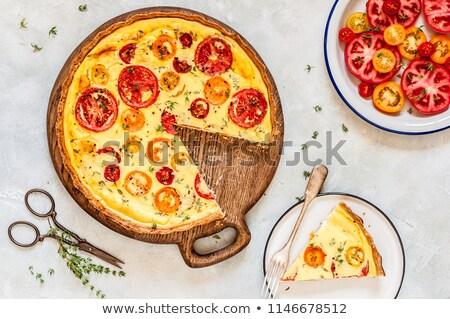 tomato quiche with ricotta Stock photo © M-studio