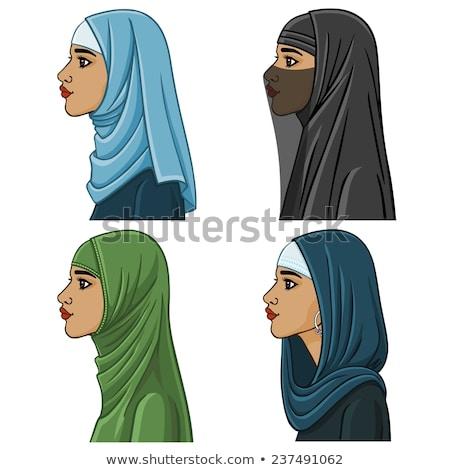Quatre arabes femme différent traditionnel Photo stock © NikoDzhi