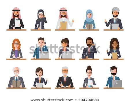 Árabe muçulmano arábia mulher comprimido Foto stock © NikoDzhi