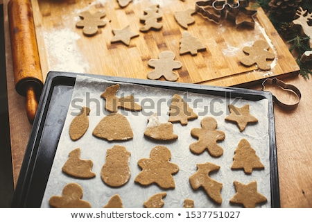 raw dough for christmas gingerbread cookie Stock photo © M-studio