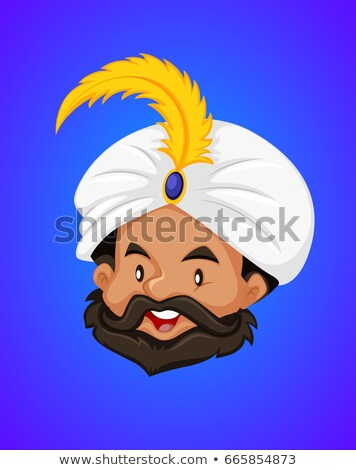 Face of Genie on blue background Stock photo © bluering