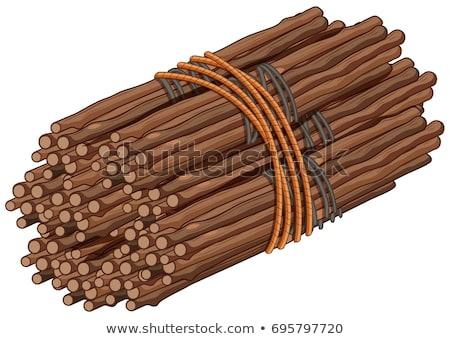 Wooden sticks in big bundle Stock photo © bluering