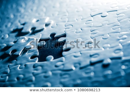 Teamwork - Puzzle on the Place of Missing Pieces. Stock photo © tashatuvango