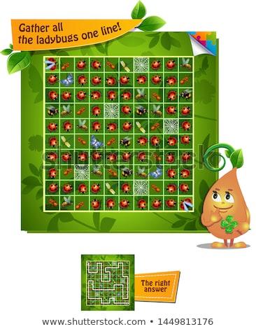 laberinto · juegos · colección · reglas · juego - foto stock © olena