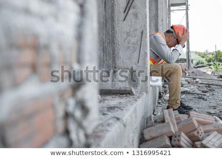 túlhajszolt · mérnök · iroda · könyvek · iskola · kereszt - stock fotó © stevanovicigor