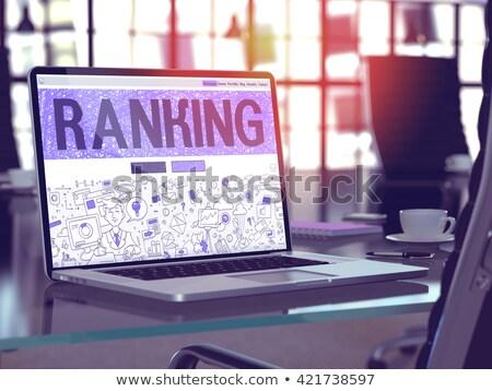 Page Rank on Laptop in Modern Workplace Background. Stock photo © tashatuvango