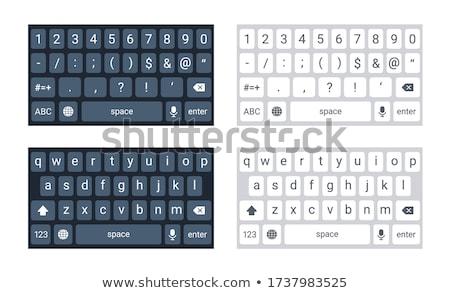 keyboard with blue keypad   apps design stock photo © tashatuvango