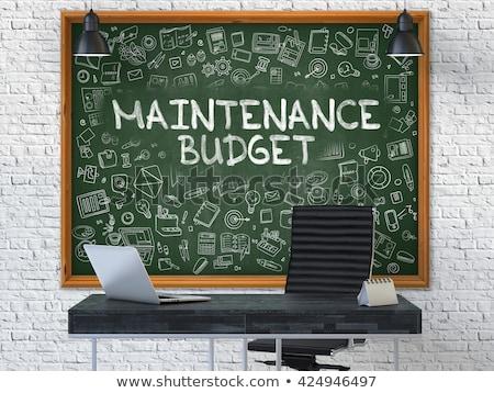 Dibujado a mano mantenimiento presupuesto oficina pizarra verde Foto stock © tashatuvango