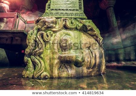 Gorgon Medusa. The Basilica Cistern Istanbul, Turkey Stock photo © artjazz
