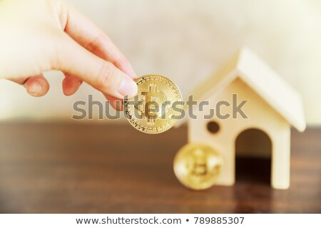 Takarékosság vásárol kéz bitcoin üzlet hálózat Stock fotó © compuinfoto