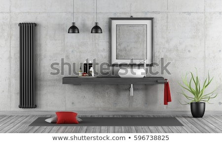 Radiátor piros szoba fehér fűtés otthon Stock fotó © ssuaphoto