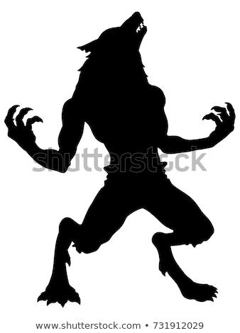 werewolf silhouette stock photo © krisdog