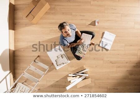decisão · cor · 3D · caixas · texto · palavra - foto stock © is2