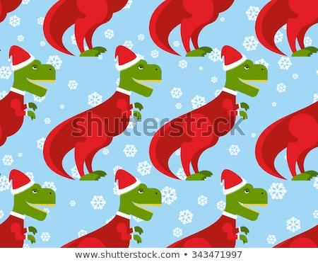 Papai noel natal dinossauro fundo antigo Foto stock © popaukropa