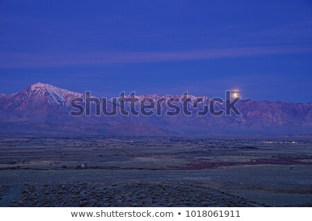 Stock photo: Eclipse Moonset Over Bishop