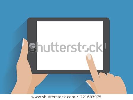 hand · touchpad · pc · tablet · tijd - stockfoto © rastudio