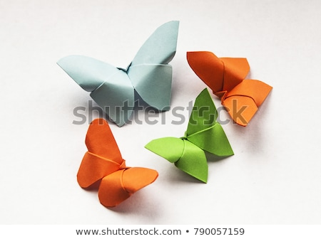 Orange butterfly of origami. Stock photo © brulove