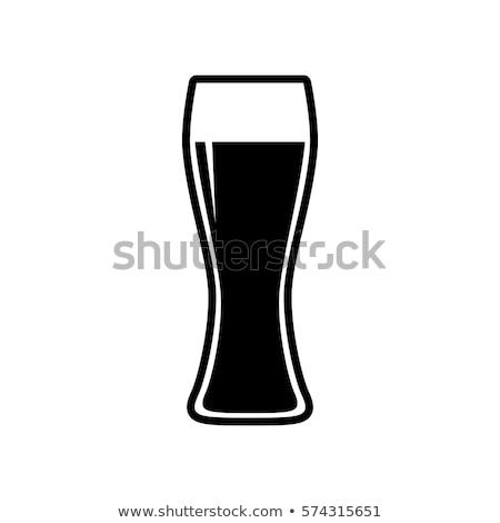 Glas bier geïsoleerd icon cartoon stijl Stockfoto © studioworkstock