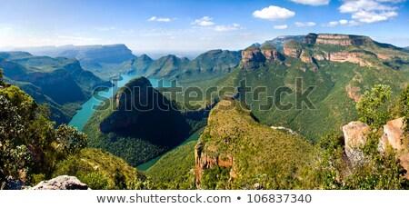 реке · ЮАР · большой · каньон · водопад · оранжевый - Сток-фото © compuinfoto