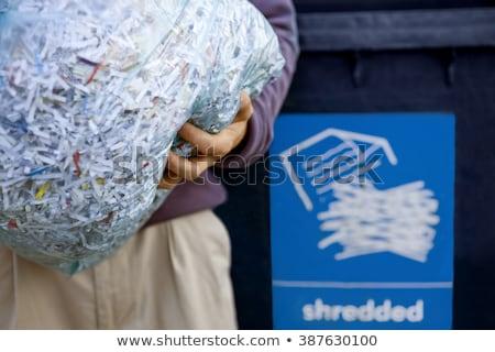 Shredded paper in the bin Stock photo © IS2
