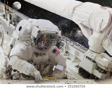 Man astronaut ruimte illustratie Stockfoto © lenm