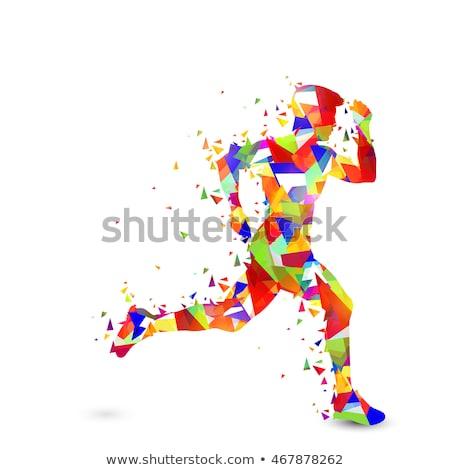 Diversão correr participação projeto logotipo ilustração Foto stock © lenm