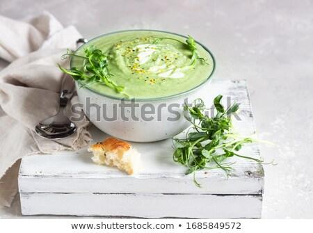スープ · 木製のテーブル · 食品 · キッチン · 表 · 肉 - ストックフォト © m-studio