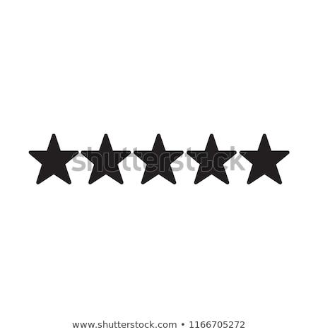 Limpio estrellas iconos de la web signo elección superior Foto stock © SArts
